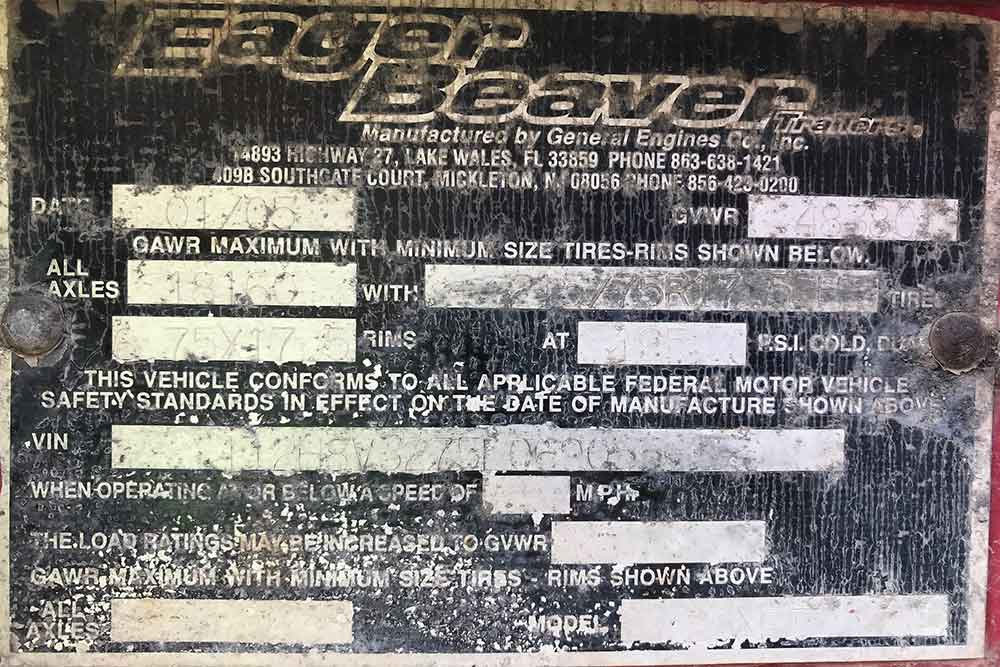 2005 EagerBeaver Trailer For Sale